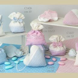 Sacchetto confetti bomboniere C1420 C1427 Baby Righino