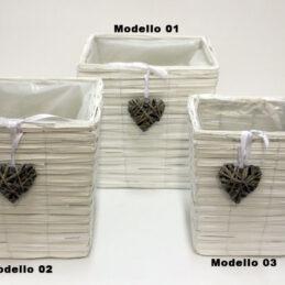 Box portafiori in legno 66256 con cuore