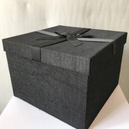 5 Scatole multiuso rivestite in stoffa nera