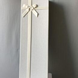Blocco 3 Scatole multiuso rettangolari rivestite in stoffa bianca
