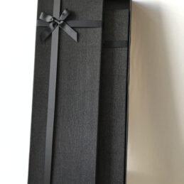 3 Scatole multiuso rivestite in stoffa nera