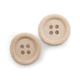 applicazioni decorativi bottoni legno