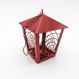 Lanterna Portacandela Rossa in Metallo