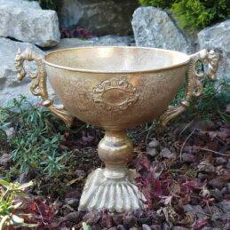 Struttura a forma di coppa per fioristi in metallo oro