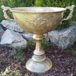 Coppa in metallo oro per arredi e addobbi