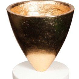Struttura oro per fioristi in resina a forma di coppa
