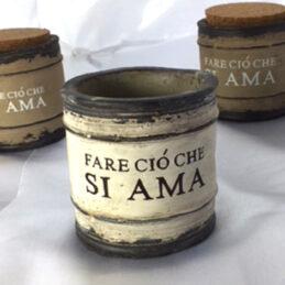 Barattolo in ceramica con tappo in sughero