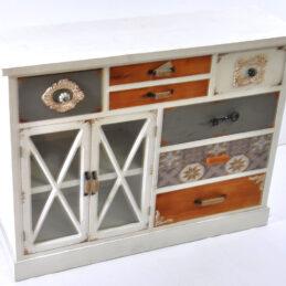 Comoda di legno bianca stile provenzale