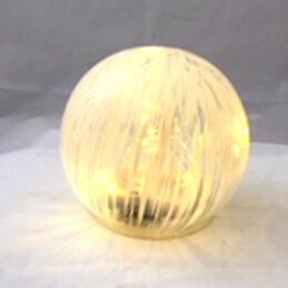 Sfera di vetro led decorata
