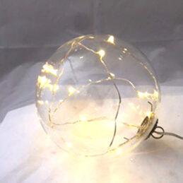 Sfera di vetro led