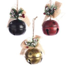 Campanacci natalizi di ferro