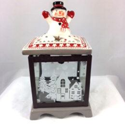 Lanterna natalizia in ceramica