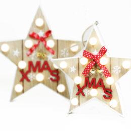 Appendino stella natalizia led