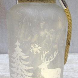 Lanterna in vetro natalizia