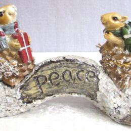 Decorazione natalizia con scoiattoli