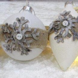 Palle decorative natalizie s/4pz
