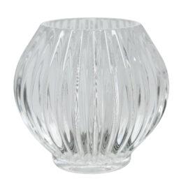 Porta t-light in vetro lavorato