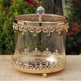Cofanetto in Vetro con Finiture in metallo GOLD