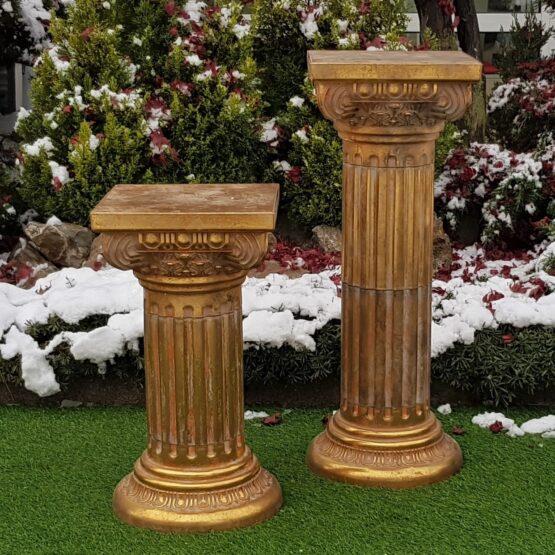 Colonne stile barocco in plastica effetto oro anticato