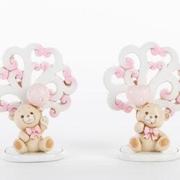 bomboniera orsetto albero rosa