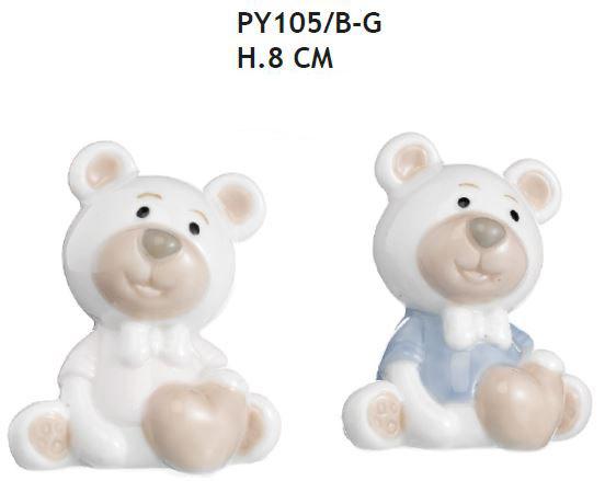 Bomboniere orsetto seduto con cuore